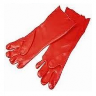 Red Rubber Hand Gloves