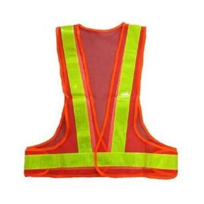 Orange Colored Net Reflective Jacket